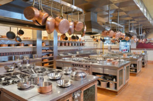 Limpieza de una cocina de Catering