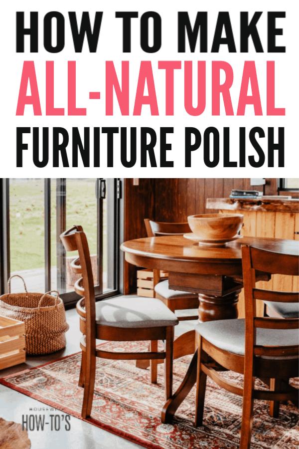 Cómo pulir muebles caseros