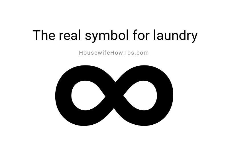 Un símbolo de infinito es el símbolo real de la ropa.