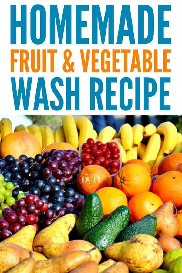 Lavado casero de frutas y verduras: limpie los productos agrícolas de forma rápida y segura. #Seguridad alimentaria #producto #housewifehowtos #householdtip
