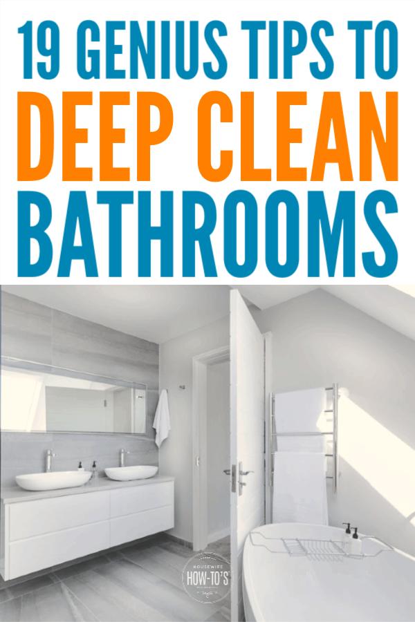 19 consejos geniales para limpiar profundamente un baño #limpieza #limpieza del baño #househowtos