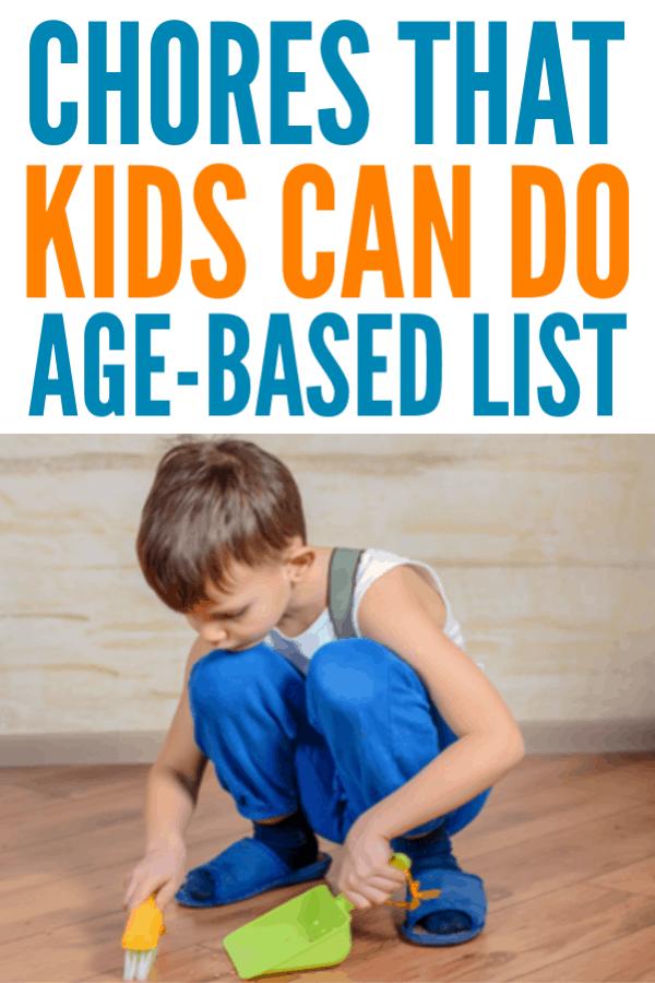 Tareas que los niños pueden hacer - Lista imprimible # limpieza # tareas # crianza