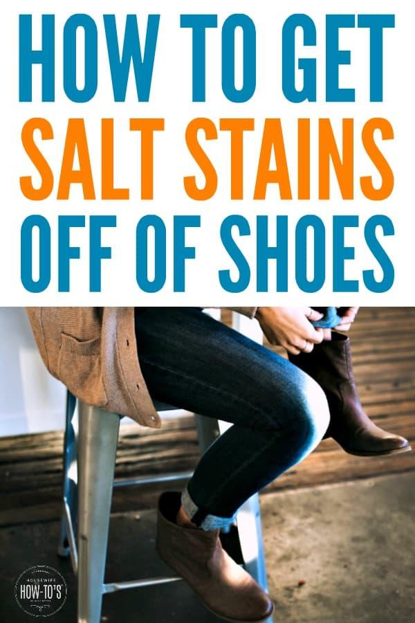 Cómo quitar las manchas de sal de los zapatos: funciona muy bien para eliminar la sal del invierno en las botas y botas Uggs