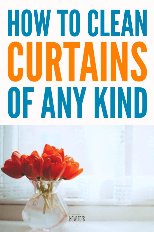 Cómo limpiar cortinas: elimine el polvo, los olores y las esporas de moho de cualquier tipo de cortinas o cortinas con estos consejos. #limpieza #lavandería #amas de casahowtos