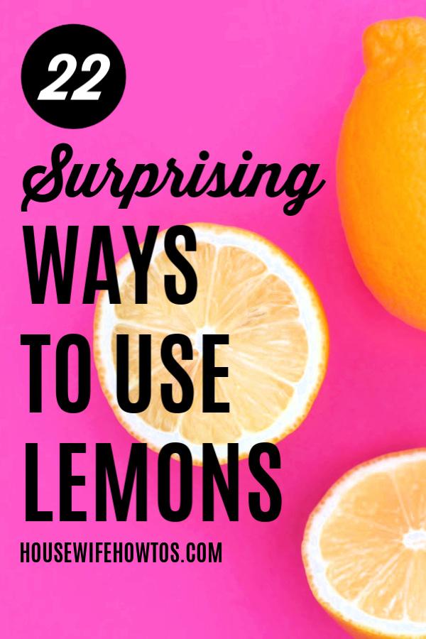 22 usos sorprendentes de los limones