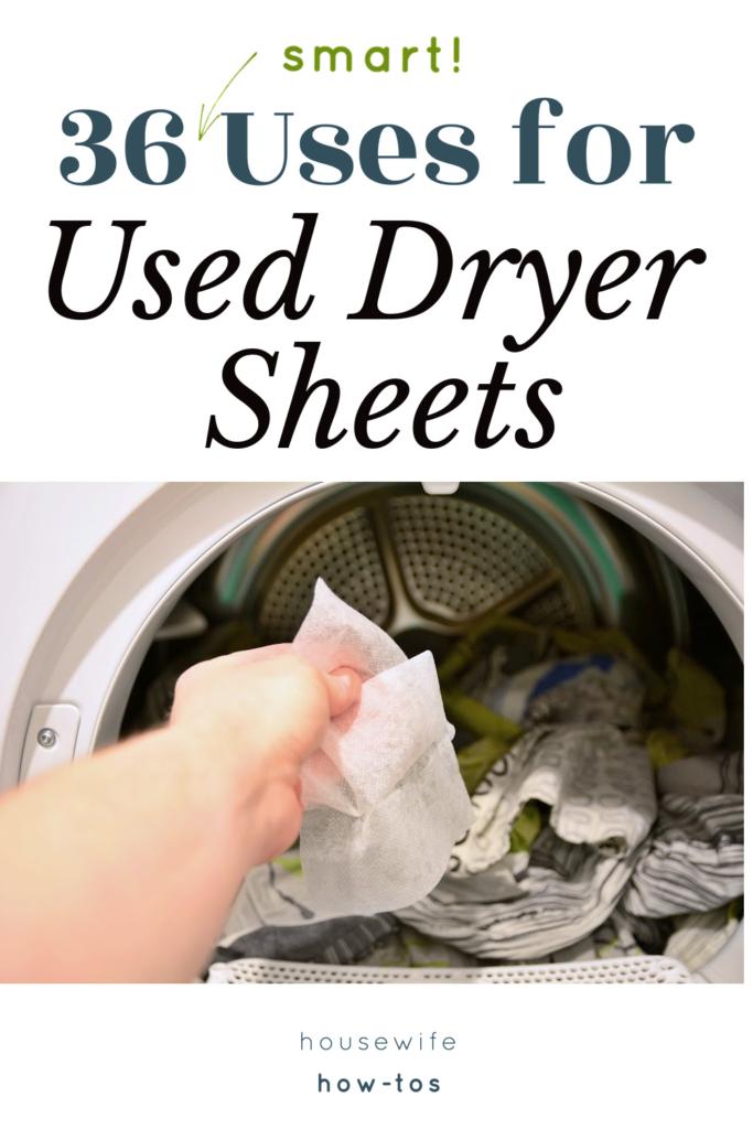 36 usos de las sábanas usadas para secadora en la casa