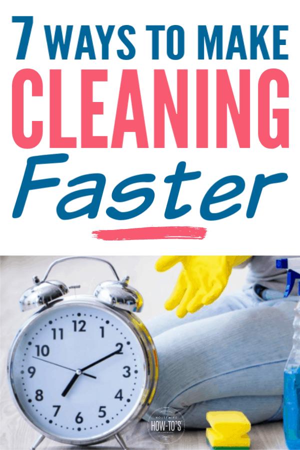 7 formas de agilizar la limpieza