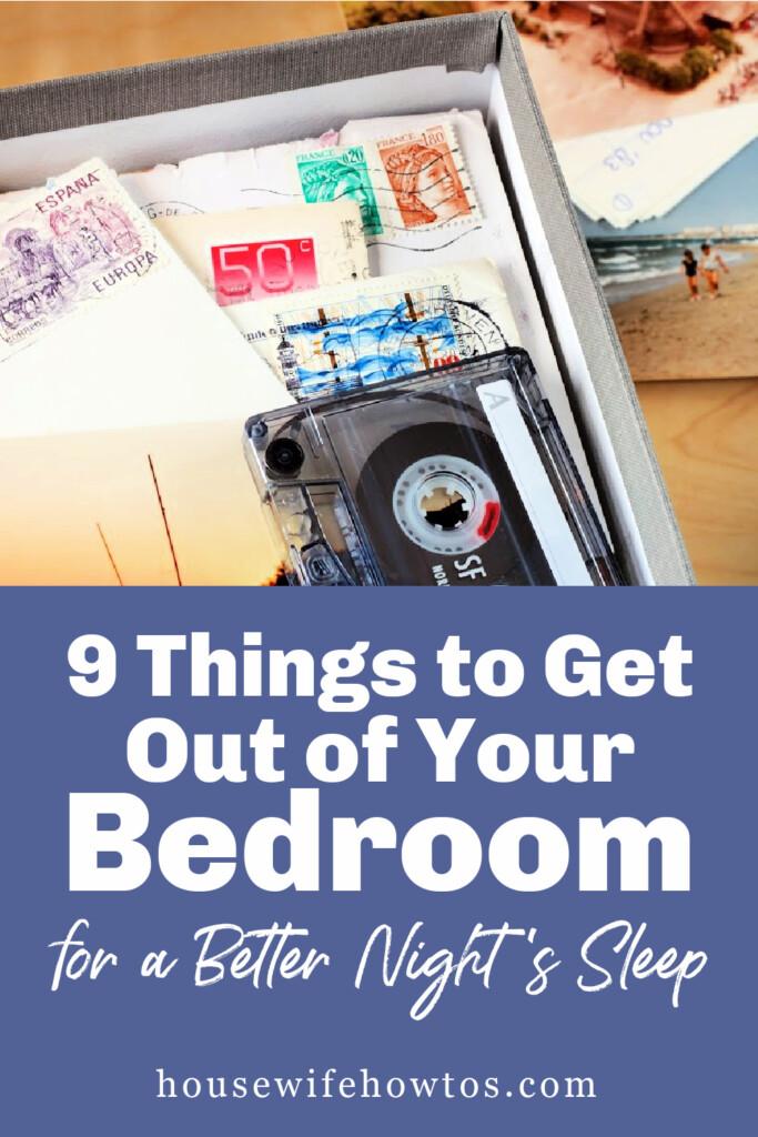 Cosas que debe sacar de su dormitorio para dormir mejor por la noche