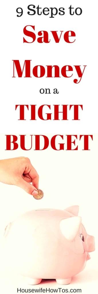 Pin 9 pasos para ahorrar dinero con un presupuesto ajustado