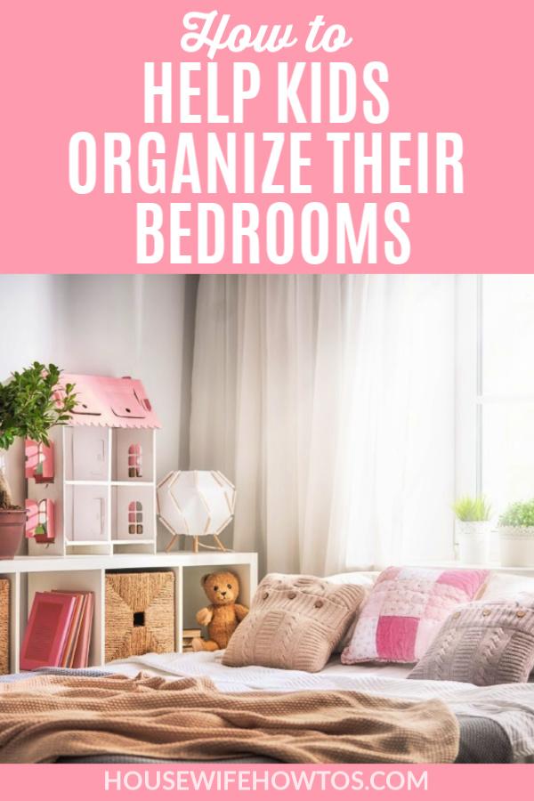 Cómo ayudar a los niños a organizar sus habitaciones