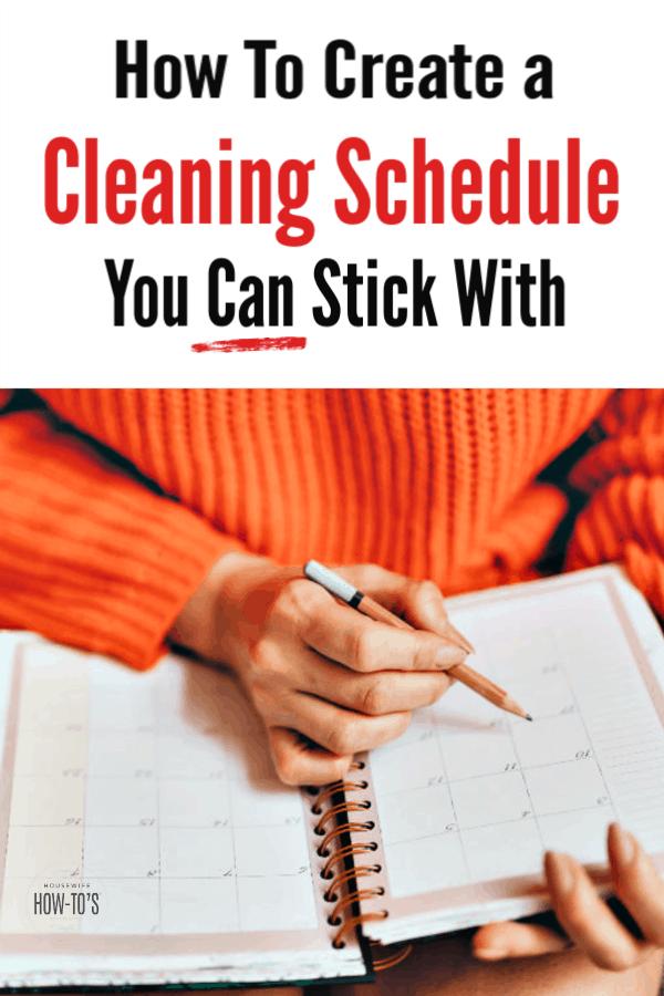 Cómo crear un horario de limpieza que pueda cumplir