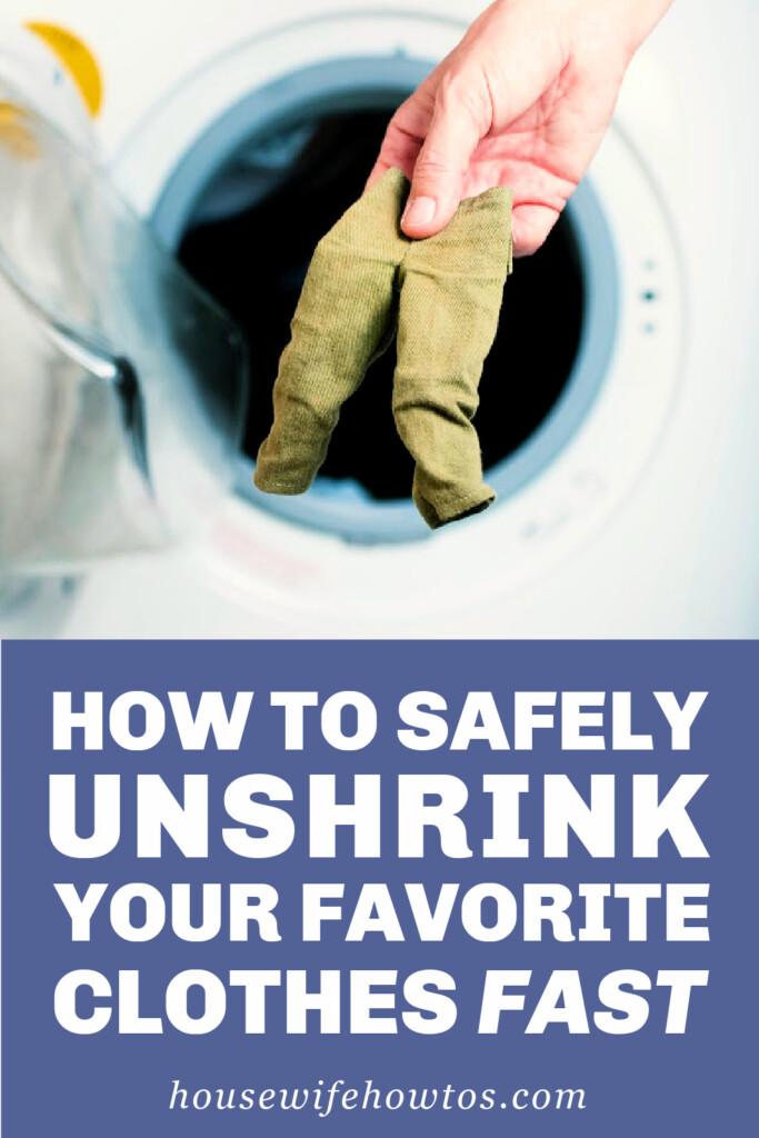 Cómo desencoger rápidamente tu ropa favorita de forma segura