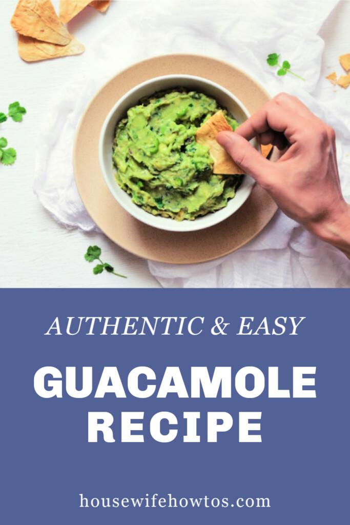 Receta auténtica de guacamole fácil