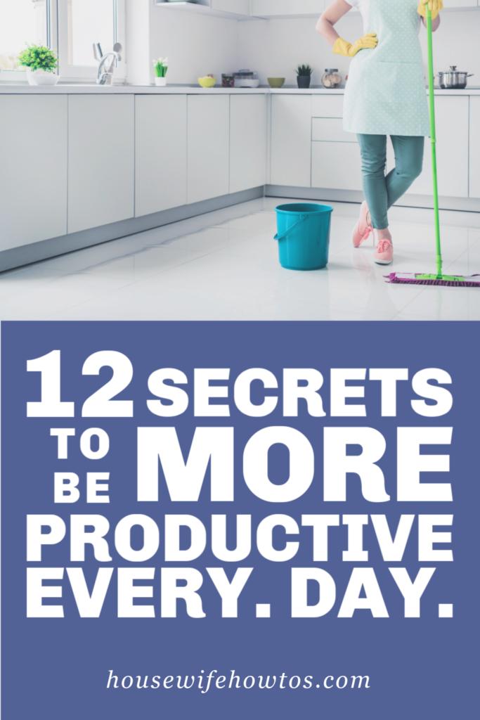 12 secretos para ser cada día más productivo
