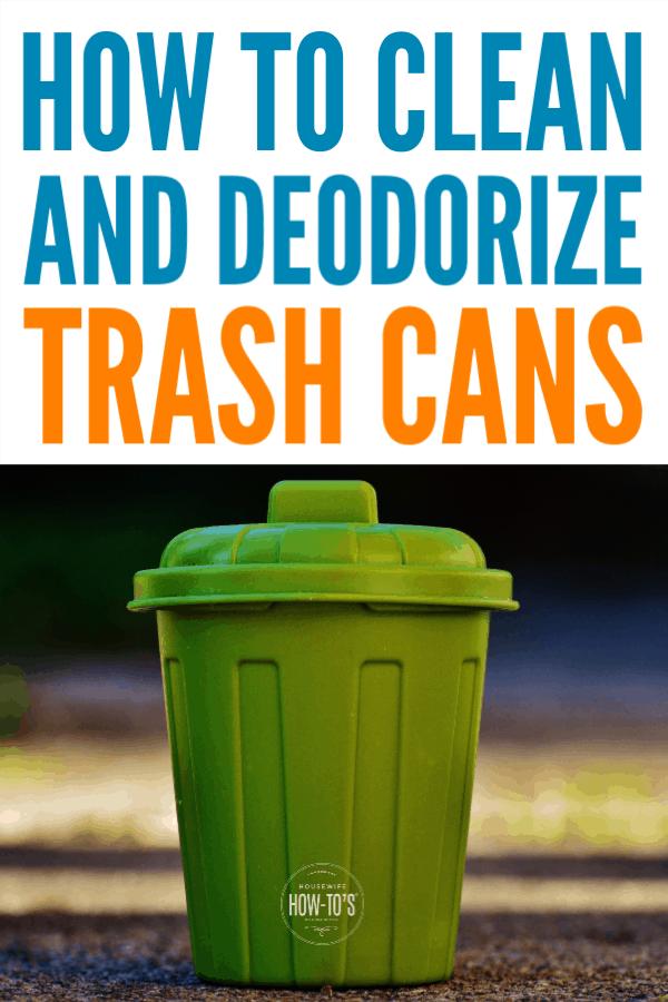 Cómo limpiar botes de basura y desodorizarlos naturalmente #limpieza #odorcontrol #housewifehowtos