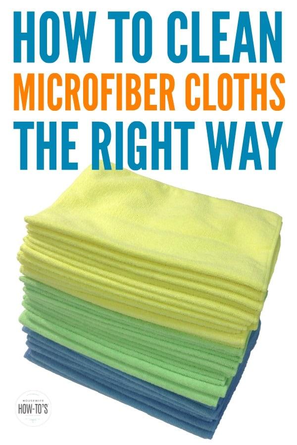 Cómo limpiar paños de microfibra: elimine las manchas y lávelos adecuadamente para que duren más. #paños de microfibra #lavandería #limpieza #amas de casahowtos #consejo para el hogar
