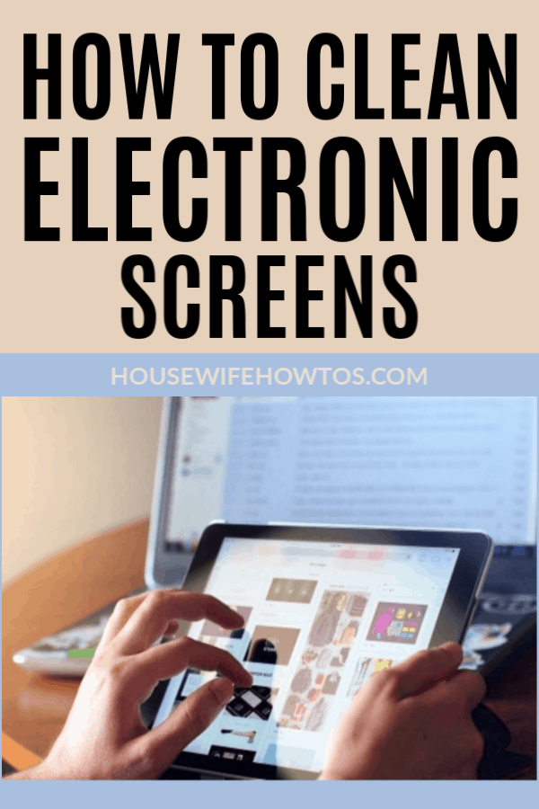 Cómo limpiar pantallas electrónicas