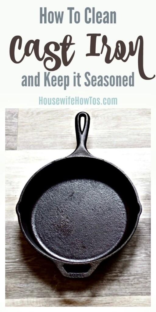 Cómo limpiar el hierro fundido y mantenerlo sazonado: me encantan mis sartenes de hierro fundido ahora que sé cómo limpiarlos y sazonarlos fácilmente. #castiron #cocinando #limpieza #lavado de vajilla