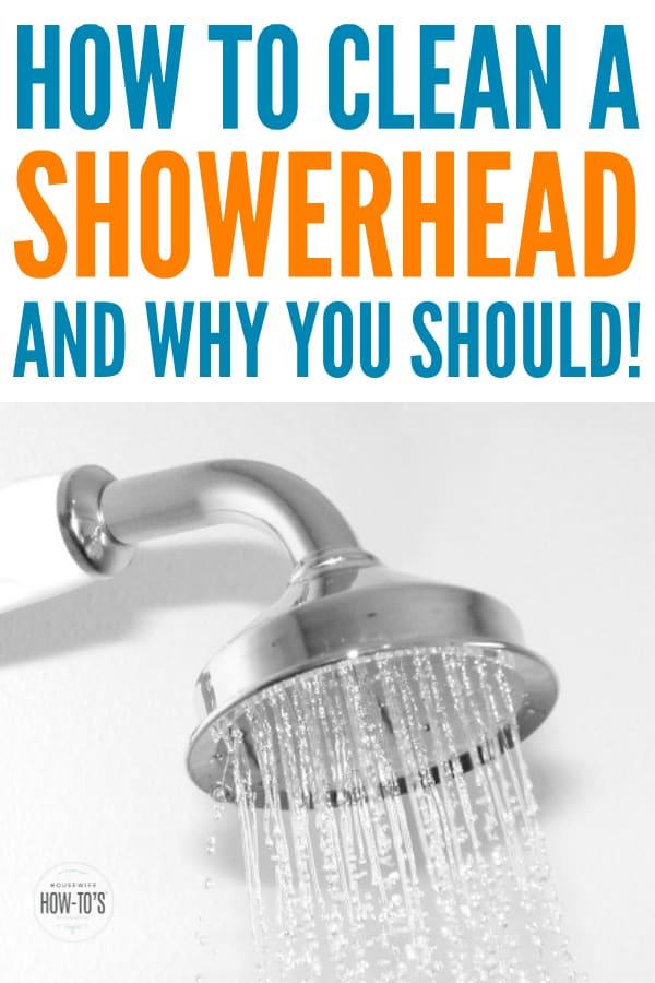 Cómo limpiar un cabezal de ducha y por qué: los cabezales de ducha sucios pueden causar enfermedades respiratorias y de la piel, además de desperdiciar dinero # limpieza # baño # limpieza del baño # housewifehowtos #showerhead