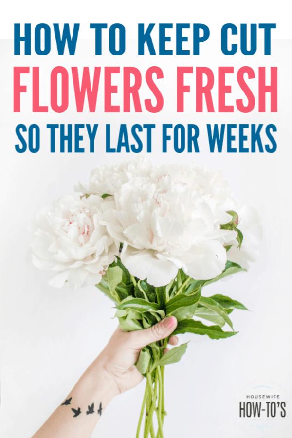 Cómo mantener las flores cortadas frescas por más tiempo