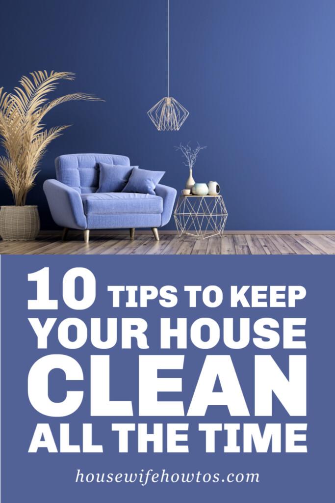 10 consejos para mantener su casa limpia todo el tiempo