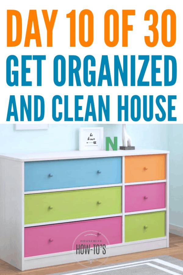 Organizar aparadores para niños #getororganizado #declutter #organización del hogar #limpieza