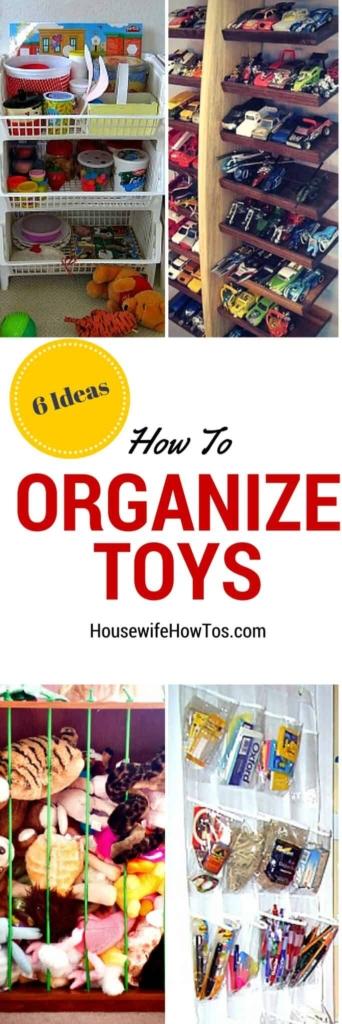 Pin Cómo organizar juguetes