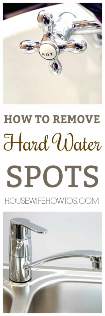 Cómo eliminar las manchas de agua dura: elimine esas manchas feas de los grifos, el fregadero, el cabezal de la ducha y el dispensador de agua.