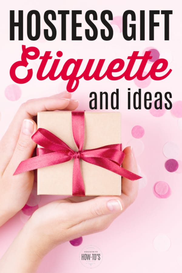 Etiqueta de regalos e ideas para regalos de la anfitriona