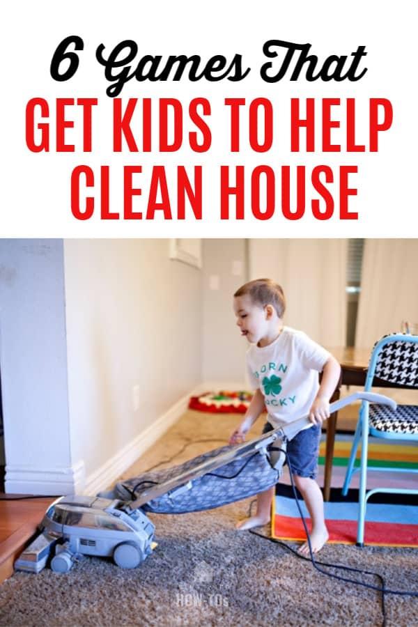 6 juegos que hacen que los niños ayuden a limpiar la casa