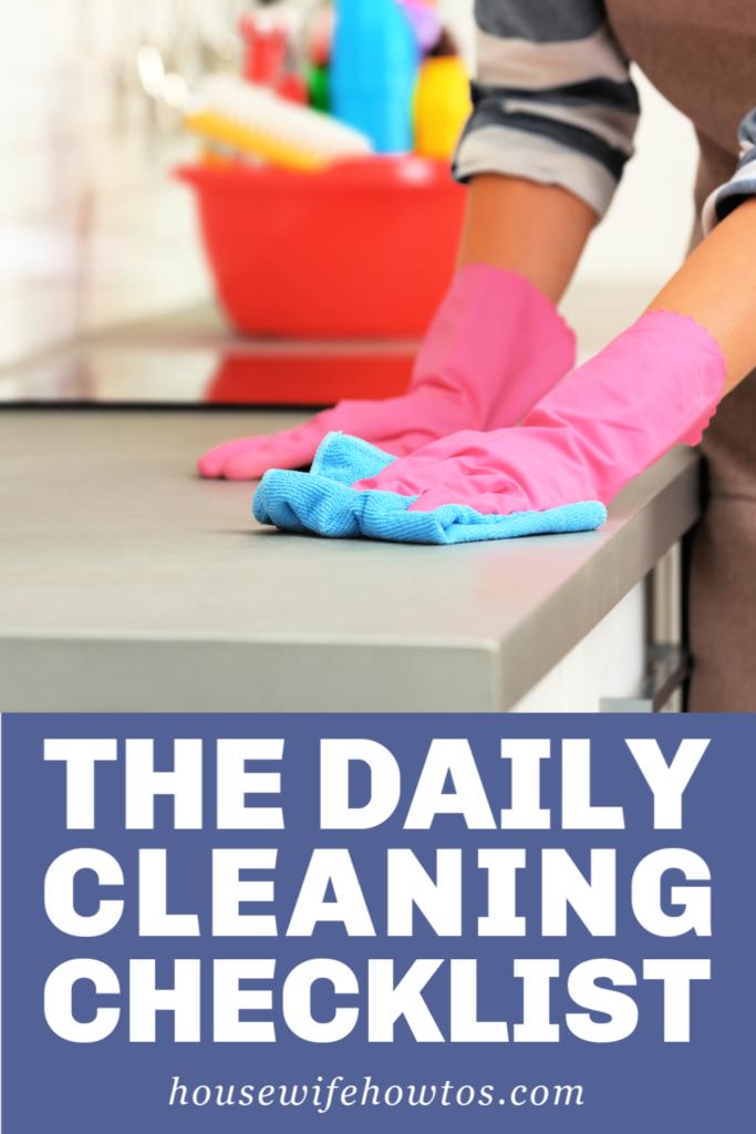 Lista de verificación de limpieza diaria