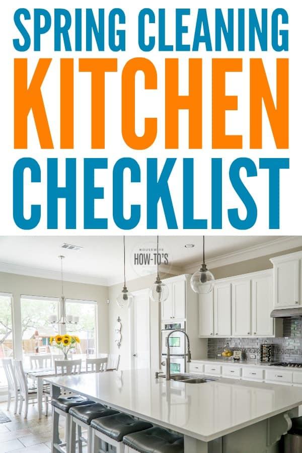 Lista de verificación de limpieza de primavera de la cocina: ¡esta cubre todo! #limpieza de primavera #limpieza de la cocina #lista de verificación de limpieza #amas de casahowtos #limpieza profunda
