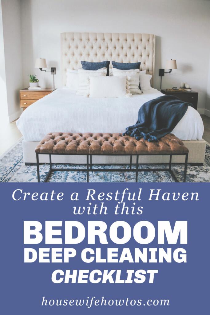 Lista de verificación de limpieza profunda del dormitorio