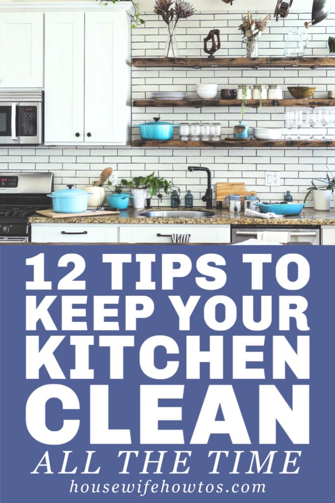 12 consejos para mantener su cocina limpia todo el tiempo