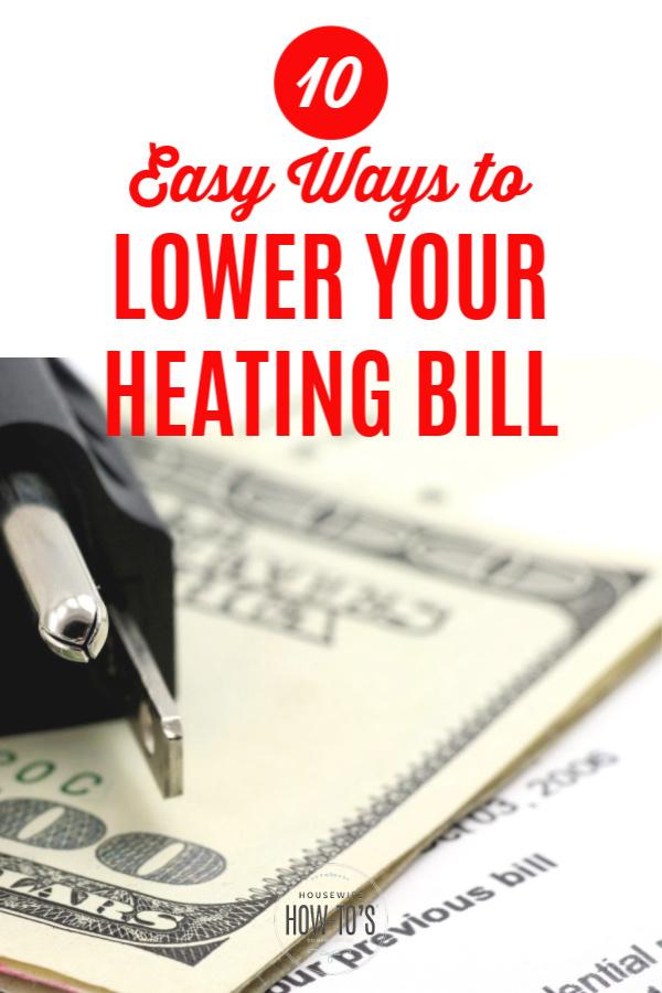 10 maneras fáciles de reducir su factura de calefacción