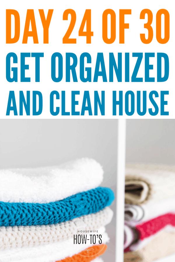 Organizar los armarios de ropa blanca