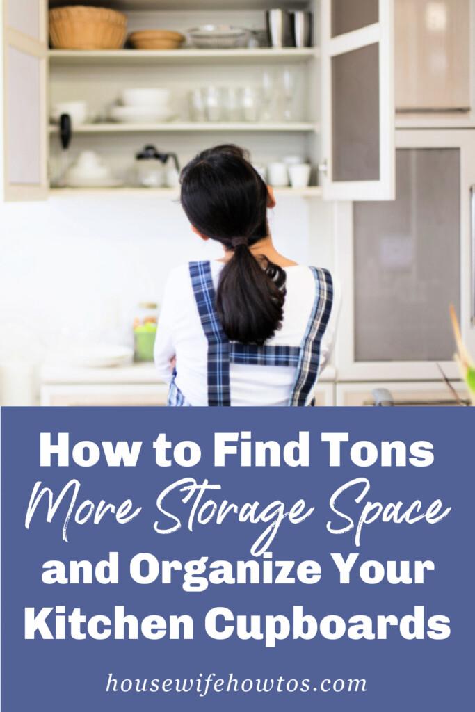 Cómo encontrar mucho más espacio de almacenamiento y organizar los armarios de su cocina