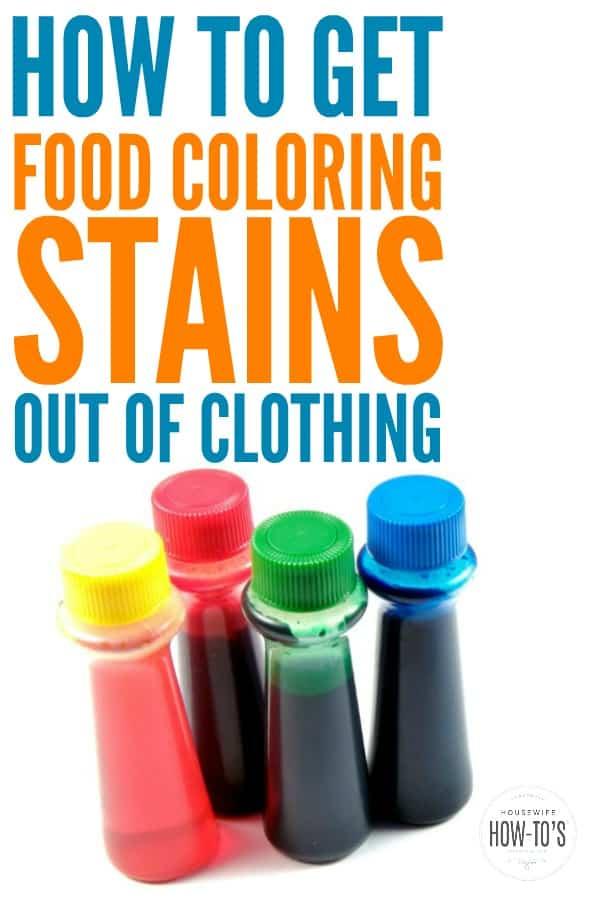 Cómo quitar las manchas de colorante para alimentos de la ropa #lavandería #manchas #laundrystains #stainremoval #foodcoloring #dye #laundryhack
