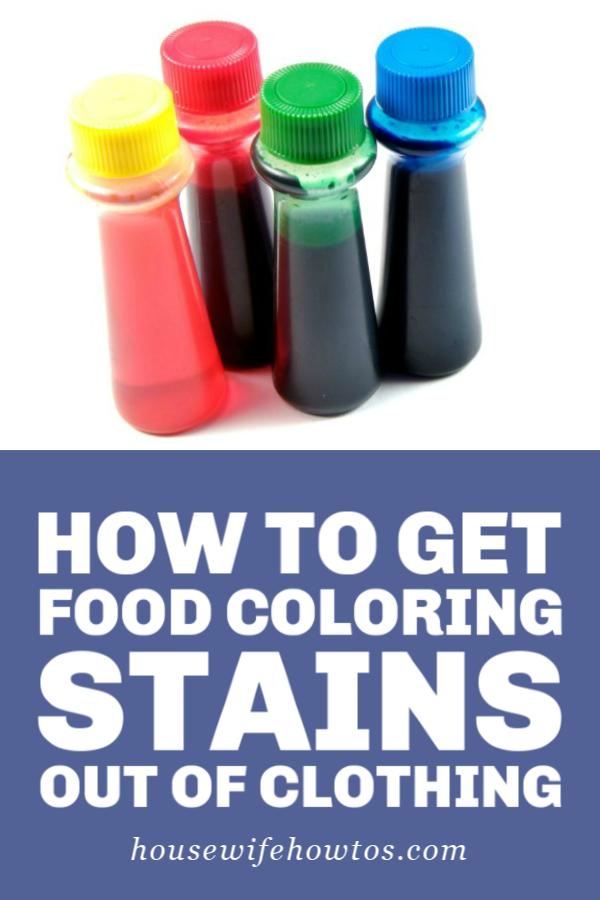 Cómo quitar las manchas de colorante de alimentos de la ropa