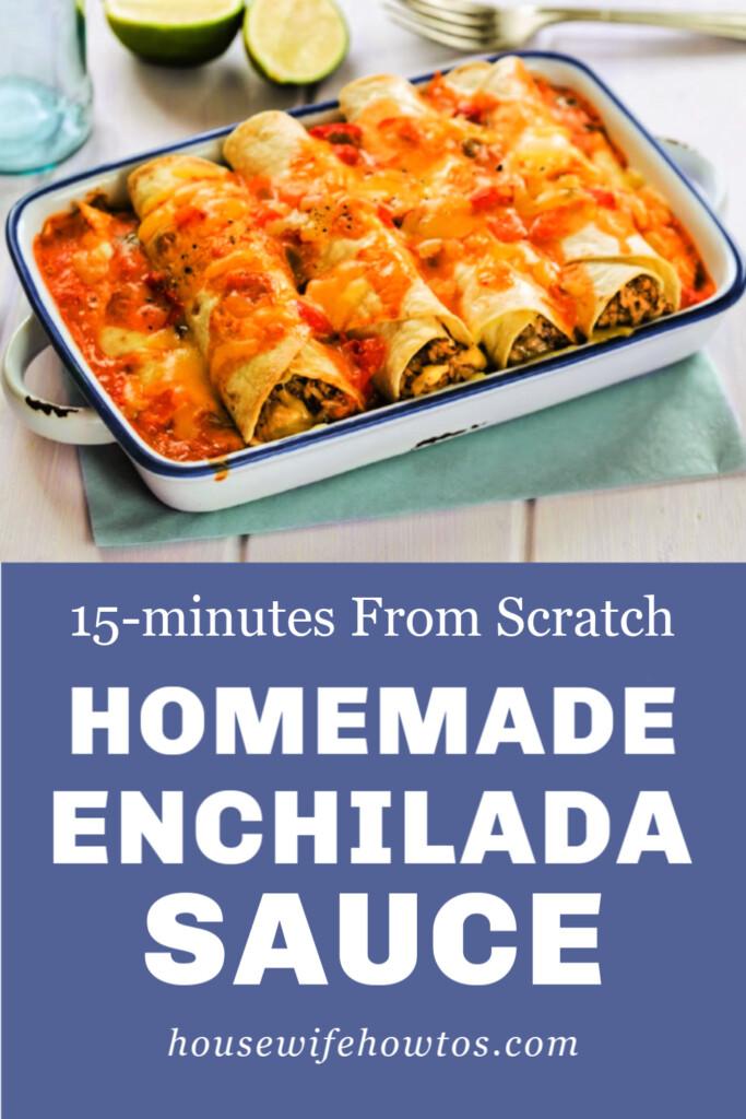 Receta fácil de salsa de enchilada casera desde cero