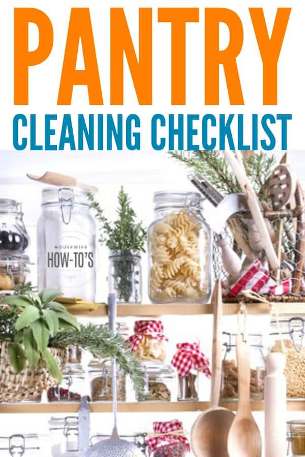 Lista de verificación de limpieza de la despensa: organícese y limpie mientras elimina los insectos de la despensa # despensa # limpieza # limpieza de la cocina # limpieza de la despensa # housewifehowtos #housework