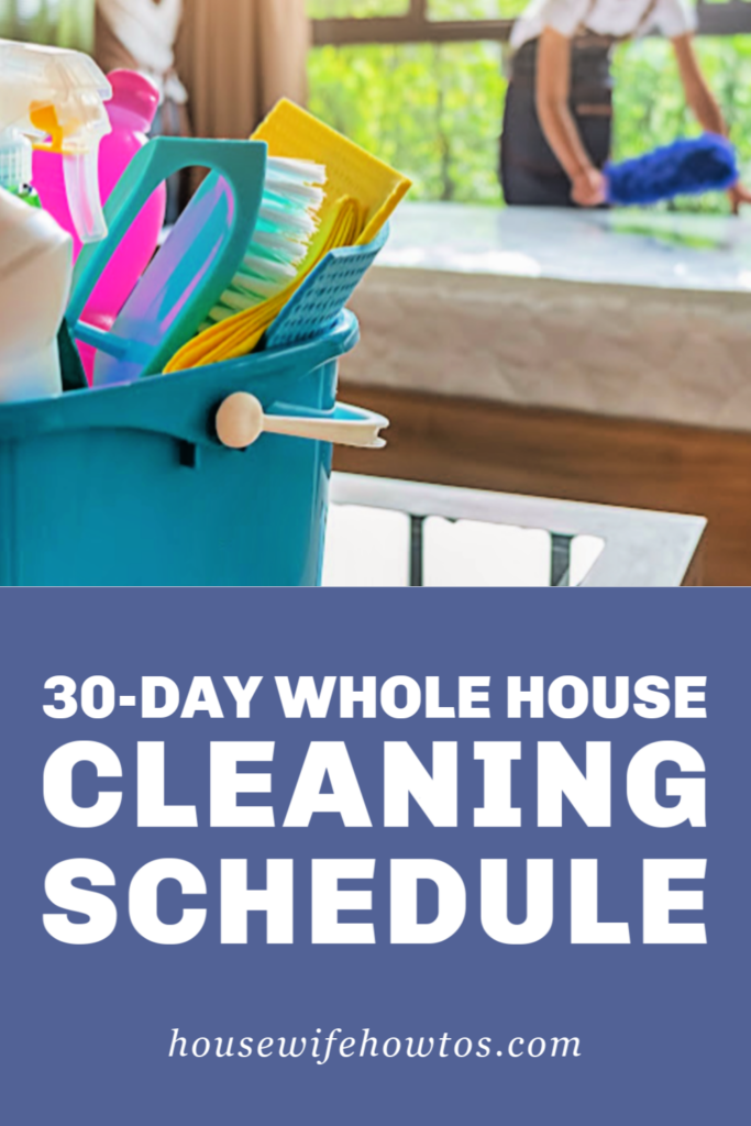 Programa de limpieza de toda la casa de 30 días con rutina de lavandería