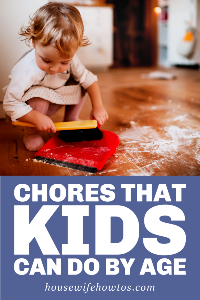 Tabla de tareas que los niños pueden hacer por edad