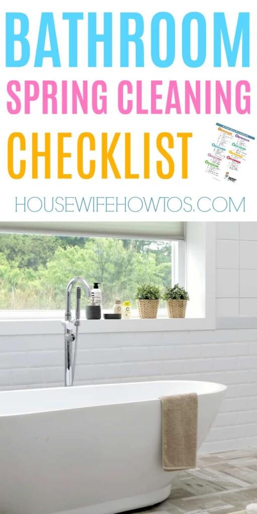Lista de verificación para la limpieza de primavera del baño: ¡estas listas de verificación son muy completas! #limpieza de primavera #limpieza profunda #lista de verificación de limpieza #limpieza