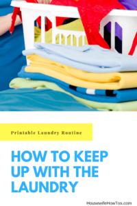 Cómo mantenerse al día con la ropa | Con esta rutina imprimible, mis hijos pueden ayudar con la lavandería y yo puedo tener mis sábados de vuelta #laundry
