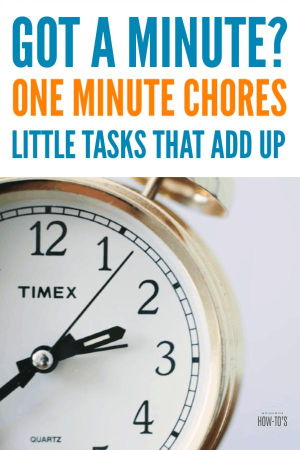 Tareas en un minuto: tareas de limpieza rápidas que suman #limpieza #aconsejo de limpieza #housewifehowtos #chores