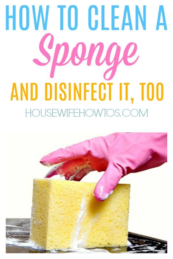 Cómo limpiar una esponja: limpie y desinfecte la esponja de su cocina en minutos #limpieza # consejos de limpieza #hacks de limpieza #esponja