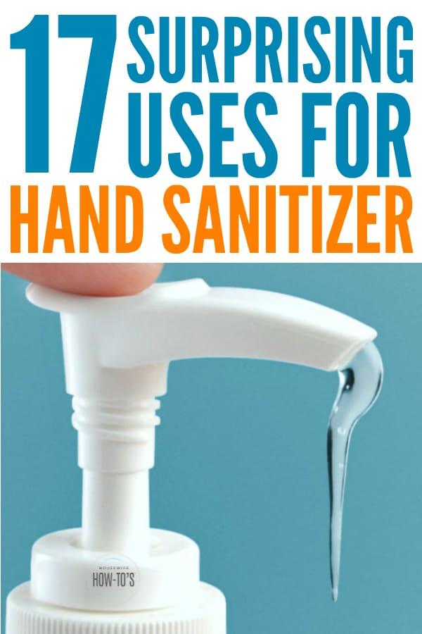 Usos sorprendentes del desinfectante de manos: ¡no tenía idea de que esto pudiera hacer tanto! #limpiezahack #lifehack #surprisinguses #housewifehowtos #handsanitizer