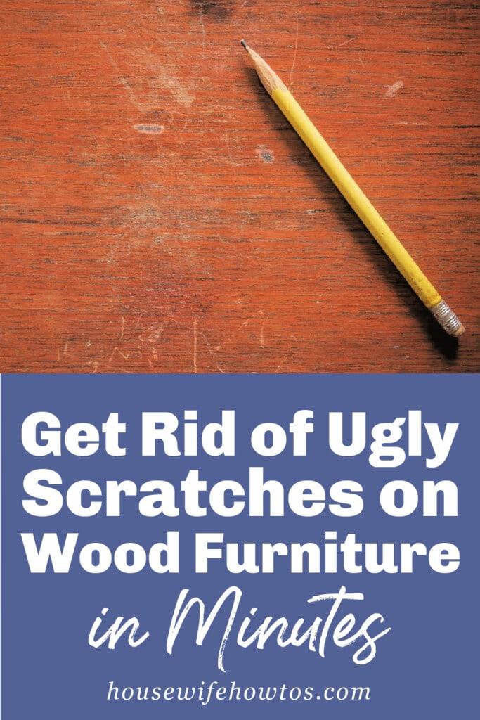 Elimine los arañazos en sus muebles de madera sin lijar