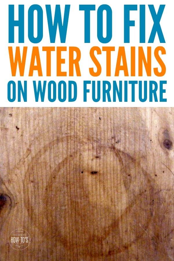 Cómo arreglar las manchas de agua en la madera: no es necesario lijar. #cuidado de muebles #consejo para el hogar #limpieza #mancha de agua